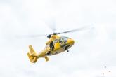 De SAR Helicoper tijdens een demo op de Wereldhavendagen in Rotterdam