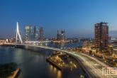 Te Koop | De Erasmusbrug en De Rotterdam in Rotterdam by Night