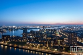 Te Koop | De haven van Rotterdam by Night met de Lloydpier