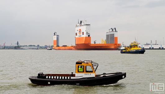Het Dockwise Vanguard met de RPA10 en KNRV10 in de Waalhaven in Rotterdam | Cover Small