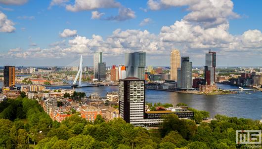 Het Park en de skyline van Rotterdam by Day | Cover Small