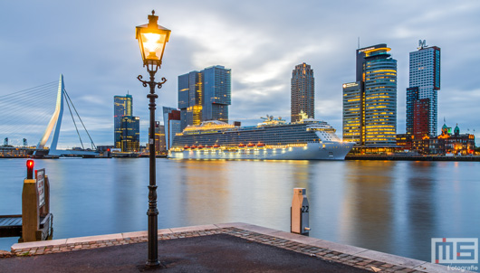 Het Cruiseschip Royal Princess aan de Cruise Port in Rotterdam | Cover Small