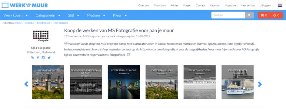 Webshop MS Fotografie vernieuwd