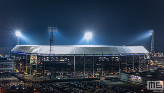 Het Feyenoord Stadion De Kuip Rotterdam by Night | Cover Small
