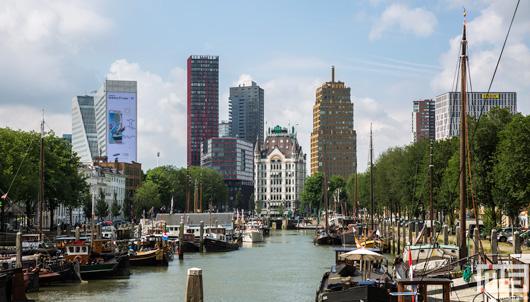 Het Haringvliet in Rotterdam met het Witte Huis | Cover Small