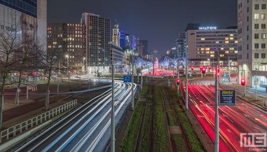 Het Hofplein en Coolsingel met op de achtergrond de Rotterdam Skyline | Cover Small