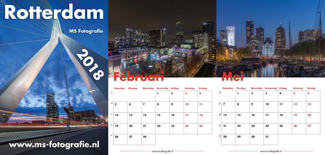 MS Fotografie Rotterdam 2018 Kalender bestelpagina