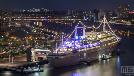 ss Rotterdam by Night - Langs de Nieuwe Maas | Cover Small