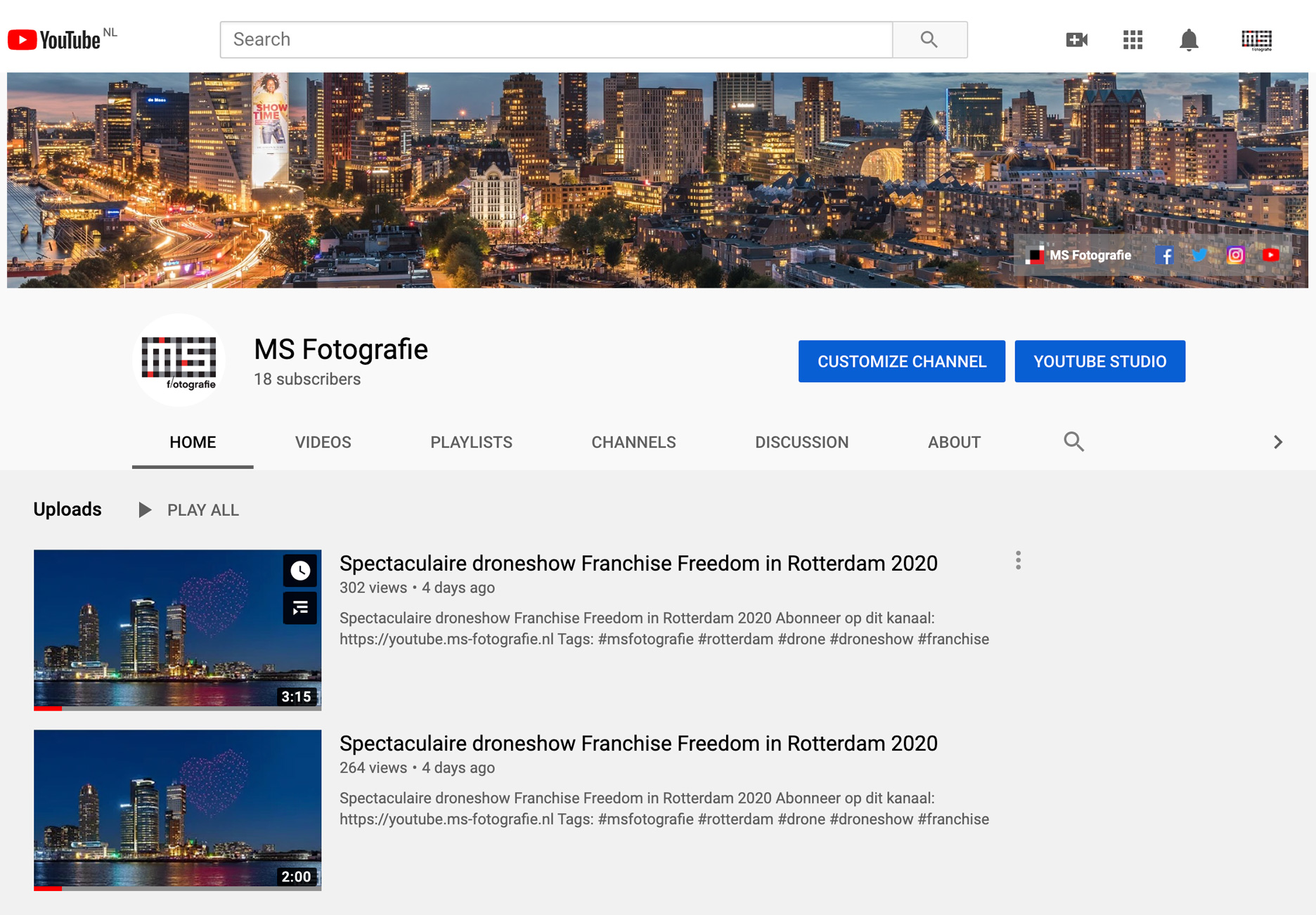 MS Fotografie nu ook actief op YouTube | Cover