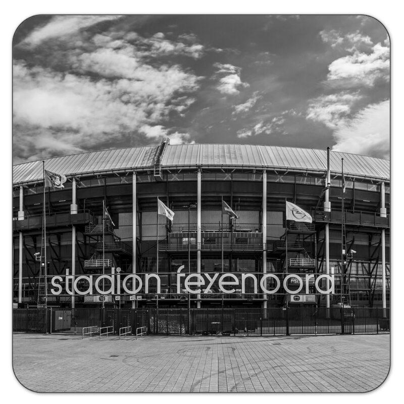 Feyenoord De Kuip ZW Onderzetter Rotterdam Shop MS Fotografie